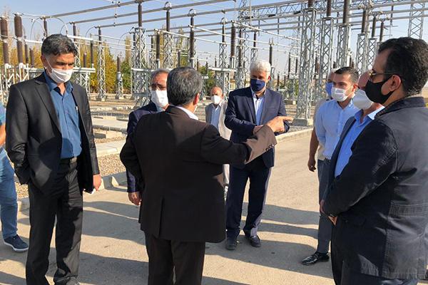 بازدید از پروژه توسعه پست برق زرینه رود
